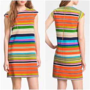 Kate Spade Nico stripe stretch shift dress sz 2